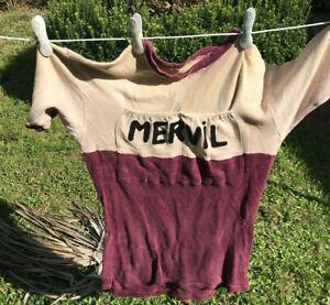 Maillot Mervil, vélo ancien vintage collection