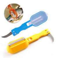 Fast Cleaning Fish Scale Remover Scaler Scraper Brush Knife Kitchen Tool TEUS