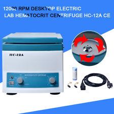 12000 Rpm Desktop Electric Lab Hematocrit Centrifuge Hc 12a Ce