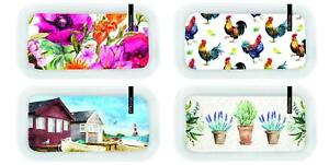 SERVING TRAY DRINKS BBQ PARTIES DINING 28.5X15CM 4 ASSORTED DESIGNS