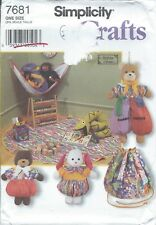 Simplicity 7681 Craft Pattern ANIMAL BAGS: DRAWSTRING TOY BAG, TOY HAMMOCK Bunny