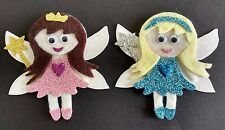 2 glitter fairy die cuts, embellishments, ideal for box frames, buntings crafts