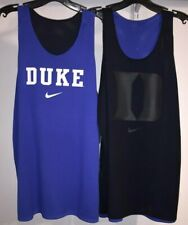 Women's NIKE Reversible Duke Blue Devils Basketball Game Royal & Black Mesh Tank
