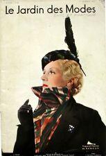 Le Jardin des Modes n°198 - 1935  - Toque et plastrons Reboux -  Condé Nast