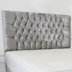 Florance Designer Headboard Bed Head in CRUSHED VELVET