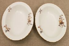 Royal Worcester Two Oval Dishes - Autumn Gold Design - Thames Hospice