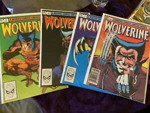 Wolverine Limited Series Lot - Complete Mini Series Set w/#s 1-4, Miller 1982