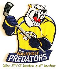 NEW Nashville Predators Hockey Sport Patch Logo Embroidery Iron,Sewing on Fabric