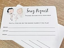 Wedding DJ Song Request Cards Pack of 10 Bride Groom Dancing Design