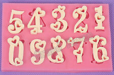Chocolate Christmas Silicone Soap Numbers Mold Decoration Bakery Tools