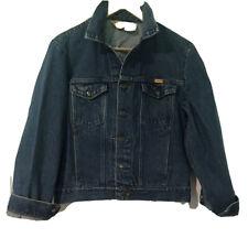 Vintage Rustler Jean Jacket Youth Medium Blue Jean Denim Trucker Cowboy Western