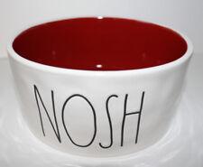 NEW Rae Dunn Magenta Artisan Collection DOG Food BOWL NOSH Red Interior
