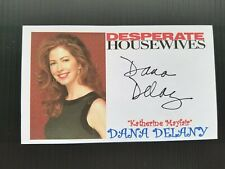 """""""DESPERATE HOUSEWIVES"""" DANA DELANEY AUTOGRAPHED 3X5 INDEX CARD"""