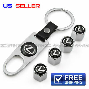 VALVE STEM CAPS KEYCHAIN KEYRING WHEEL FOR LEXUS KEY FOB KEYS VS22 - US SELLER
