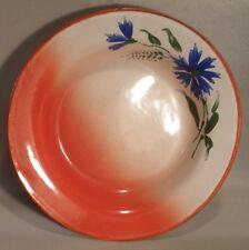 Graniteware Hand Painted Soup Bowl