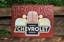 Chevy Trucks Tin Metal Sign - Truck - Since 1918 - Silverado - 3100 - Chevrolet