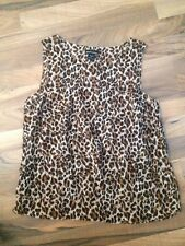 Womens MODA International Shirt Size S Animal Print
