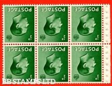 Sg. 457 bw. Pb1a. Inverted Watermark. ½d green. A fine Unmounted Mint bo B48593