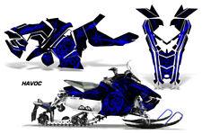 Polaris AXYS RUSH Pro S Sled Wrap Graphic Decal Kit Snowmobile 2015+ HAVOC BLUE