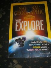 NATIONAL GEOGRAPHIC 125TH ANNIVERSARY ISSUE-OFF TO THE STARS-SURVIVING-MICROBES