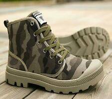 Men camo hiking athletic sneaker casual shoes lace up breathable Round toe vogue