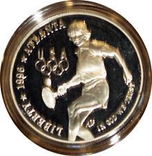 1996 $1 Silver Olympic Tennis Gem Proof Example + Bonus