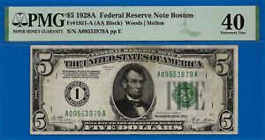 FR-1951-A - 1928-A $5 FRN (( Highly Wanted - Boston District 1 )) PMG 40 # 53979