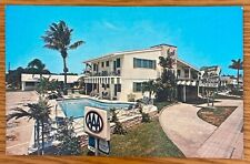 VERO BEACH FLORIDA JEWEL PALMS RESORT MOTEL WITH POOL POSTCARD K73