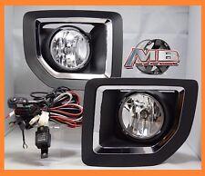15 16 17 18 GMC Sierra 2500 Fog Light Bumper Lamp Clear PAIR WIRING+SWITCH- KIT