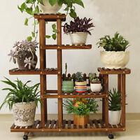 New Pine Wooden Plant Stand Indoor Outdoor Garden Planter Flower Pot Stand Shelf