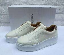 RUSSELL & BROMLEY PARK UP WHITE PLATFORM LACELESS TRAINERS BNIB 36 UK 3 RRP £175