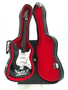 Miniature Fender Stratocaster Guitar - Black Sabbath - (Includes Hard Case)
