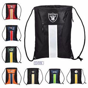 NFL /NBA Team Big Stripe Drawstring Backpack -Choose Your Team!