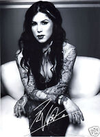 KAT VON D AUTOGRAPH SIGNED PP PHOTO POSTER