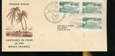 591027 / Flugpost Lufthansa Beleg Chile MEF