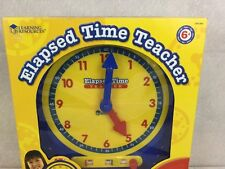 Learning Resources Elapsed Time Clock Home School Day Care Age 6+