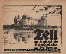 DRESDEN, Werbung / Anzeige 1924, Hartwig & Vogel AG TELL Kakao SchokoladeDessert