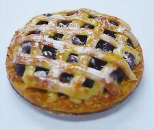 Blueberry Lattice  Pie On Tin Pans Dollhouse Miniatures Food Bakery