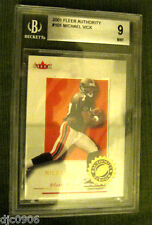 Michael Vick RC 2001 Fleer Authority ROOKIE Beckett Graded BGS 9-Falcons RC QB