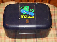 Plastic Make Up Case VANITY Jewelry Box Expands SoBe Liz Blizz Large Hard BLUE