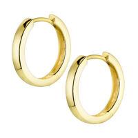 MATERIA Damen Creolen Silber 925 Rosegold Gold 17mm klein Ohrringe in 3 Farben