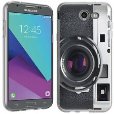 for Samsung Galaxy J3 Prime(Vintage SLR Camera)Clear TPU skin phone case cover