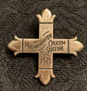 James Avery Sterling Silver 925 Magnanimiter Crucem Sustine FHS Cross Pin