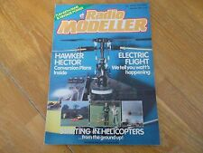 RADIO MODELLER  MAGAZINE  JAN '88 HAWKER HECTOR PLANS ELECTRIC FLIGHT HELICOPTER