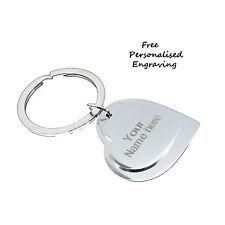 Two Heart Personalised Keyring key chain birthday gift Anniversary Key Gift