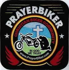 PrayerBiker Member Christian Biker BACK PATCH SUPPORT PRAYERBIKER.COM PBK-0011