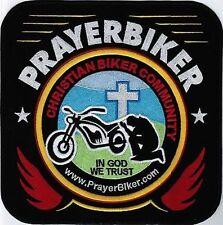 PrayerBiker Member Christian Biker BACK PATCH SUPPORT PRAYERBIKER.COM PBK-0011