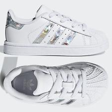 adidas Originals Superstar Infant Girls Trainers White SIZE 3 4 5 6 7 8 9 Baby