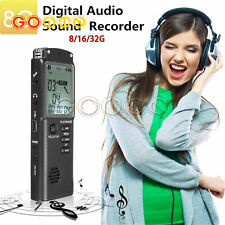 8/16/32G Grabadora de voz Pluma de grabación de audio Dictaphone teléfono reproductor de MP3