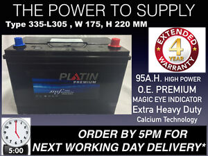 12V Car Battery Heavy Duty Type 249/335 4 Year Warranty LION SEALED NEXT DAY DEL